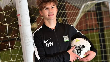 Harry Whayman from Easton adn Otley College has been chosen to be a part of the English Colleges foo