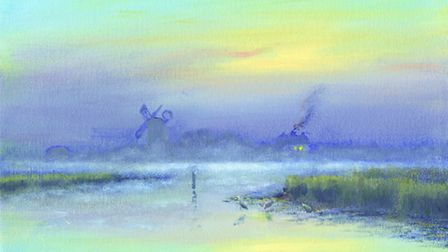 Visions: Glimpses of the Spirit of Broadland, an exhibition of the work of artist David Dane. Pictur
