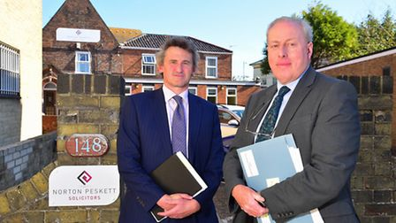 Lowestoft solicitors Rob Barley (left) and James Hartley have criticised the justice in a van idea.