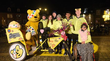 The One Show's Rickshaw Challenge arrives on King Staithe Square in King's Lynn. Picture: Ian Burt