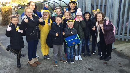 Non-uniform day and fundraising activities for Children in Need at Caister Junior School