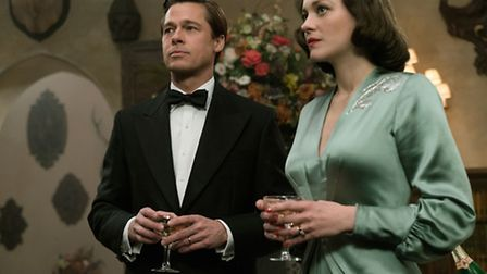 Brad Pitt plays Max Vatan and Marion Cotillard plays Marianne Beausejour in Allied. Picture: Paramou