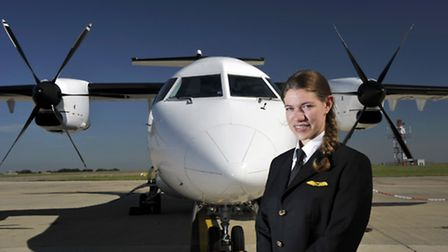 New LoganAir pilot Emma Worley, who is 29. Picture: Submitted