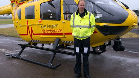 Prrince William, at work as a pilot for the East Anglian Air Ambulance. Picture: Stefan Rousseau/PA