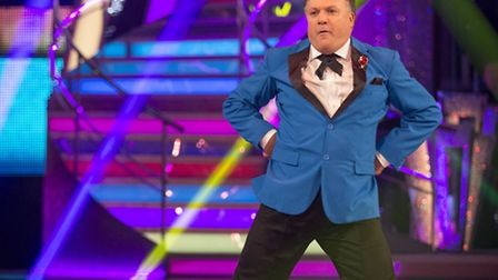 Ed Balls went down in history on Strictly Come Dancing - but is heading to Blackpool. Pic: Guy Levy/