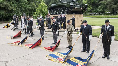 Scenes from a Desert Rats Memorial Service at High Ash Camp in Mundford earlier this year. Picture:
