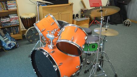 Ed Sheeran drum kit is a smash hit for hospice appeal. Picture EACH
