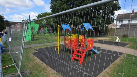 Parents, children and supporters continue their protest over the removal of play equipment at Kings