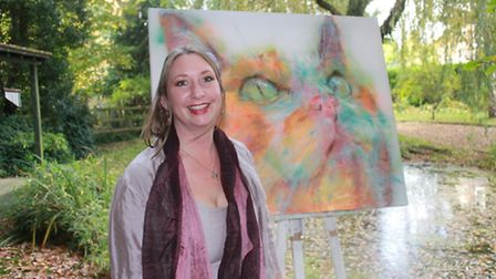 Gresham-based artist Hannah Hardy, whose work is on show at the Norfolk and Norwich University Hospi