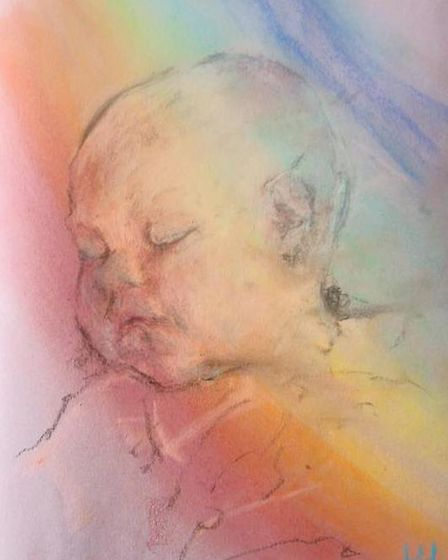 Rainbow Dreamer, by Gresham-based artist Hannah Hardy, whose work is on show at the Norfolk and Norw