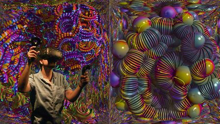 A local exhibition is showcasing a new virtual reality art form