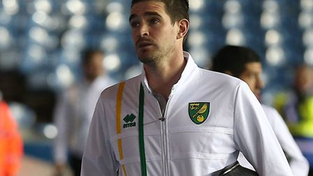 Kyle Lafferty, who was an unused substitute for Norwich City in the EFL Cup fourth round tie at Leed