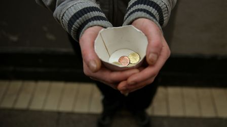 Norwich police have launched a crackdown on begging. Photo: Brian Lawless/PA Wire