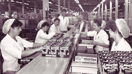 Taken in 1988 Mackintosh factory had merged with Rowntrees. From Evening News Archives.