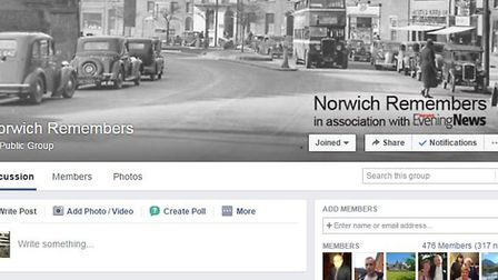 Norwich Remembers Facebook Page. Screenshot from Facebook.