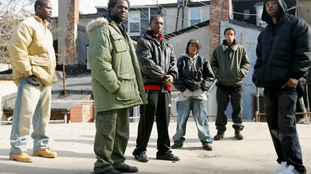 The cast of HBO's the Wire