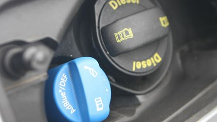 AdBlue, made from a mixture of water and urea, is injected in a diesel vehicle's exhaust sysem to lo