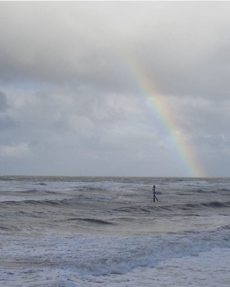 A Rainbow over the sea at Sheringham by @garybirder