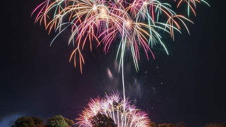 Fawkes in the Walks 2016 - Fireworks light up the sky above the Red Mount in King's Lynn for this ye