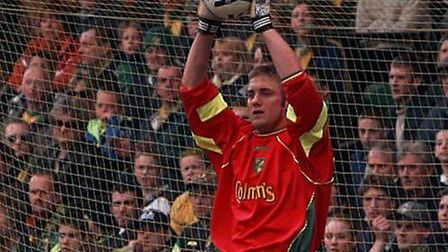 Robert Green on his Norwich City debut against Ipswich in 1999. Picture: Archant