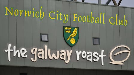 The Galway Roast branding is set to be removed from the South Stand at Carrow Road. Picture: ANTONY