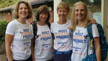 Friends Diana Jacob, Alison Mawson, Catherine Scott and Karen Siddall, who are on target to raise £1