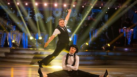 Katya Jones and Ed Balls will be dancing again this week (Picture: BBC/Guy Levy)