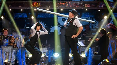 Katya Jones and Ed Balls wowed the judges with his routine (Picture: BBC/Guy Levy)
