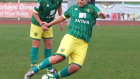 Action from Norwich City Ladies' defeat at Enfield Town