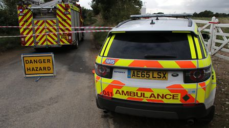 Emergency services were called to the scene after the alarm was raised. Picture: ALLY McGILVRAY