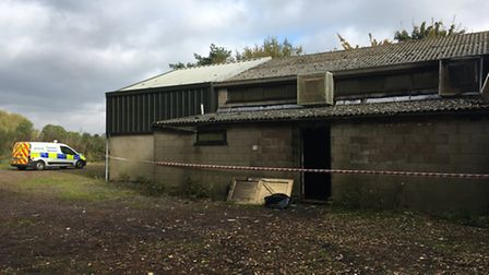 Damage at Bunwell Sports Hall, which was destroyed by fire. Picture: STUART ANDERSON