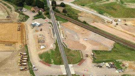 Aerial picture of work on the Northern Distributor Road. Pic: Mike Page.