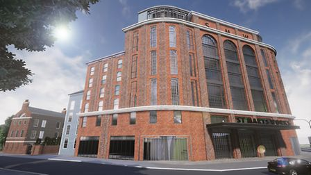 An artist's impression of what the new hotel could look like. Pic: Architekton