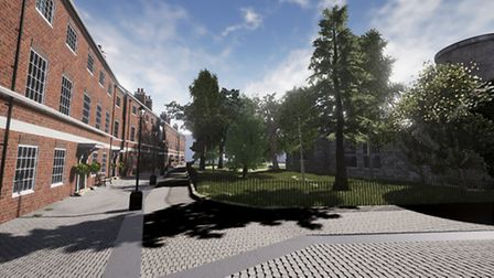 An artist's impression of some of the new homes. Pic: Architekton