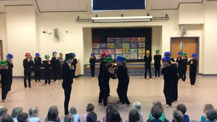 Pupils from Aldborough Primary School performing Shakespeare's Romeo and Juliet. Picture: ALDBOROUGH