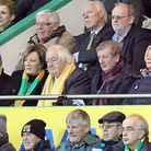 Norwich City's joint majority shareholders Delia Smith and her husband Michael Wynn Jones are joined