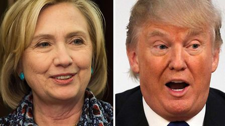Hillary Clinton and Donald Trump. Photo: PA Wire