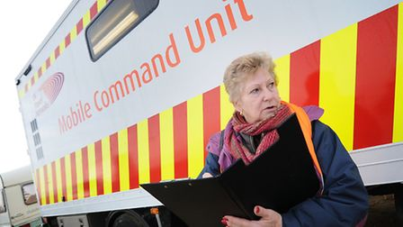Pauline Porter pictured during the aftermath of the floods.PHOTO: ANTONY KELLY