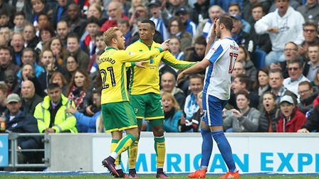 Brighton's hat-trick hero Glenn Murray was Norwich City's tormentor-in-chief. Picture by Paul Cheste