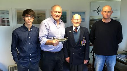 From left, Harvey Pettingell, John Hoyte, Eric Quinney and Neil Bignell at Sim-Fly at the Old Bucken