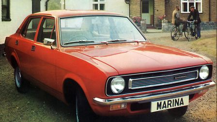 A Morris Marina saloon similar to Howard Read's first car – reliability was not a strongpoint.