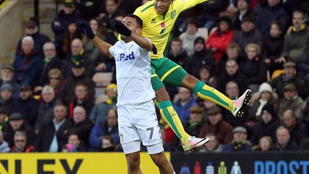 Martin Olsson in typically committed action for Norwich City. Picture by Paul Chesterton/Focus Image