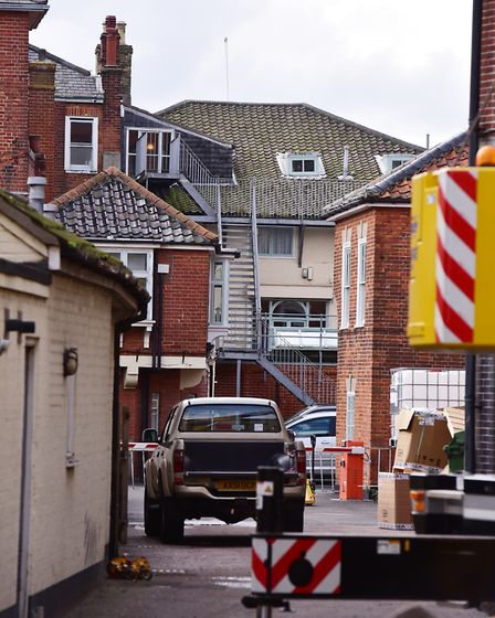 The back of the Swan Hotel in Southwold. Picture: NICK BUTCHER