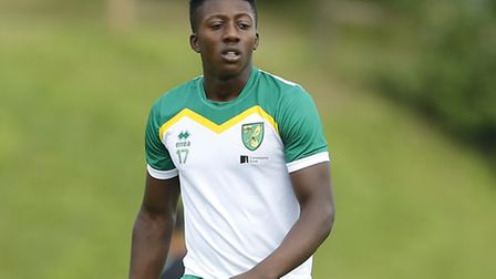 Benny Ashley-Seal of Norwich City during the pre-season friendly match between FK Dukla Prague and N