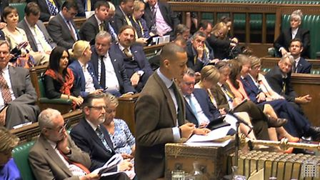 Clive Lewis speaking in the House of Commons PA Wire
