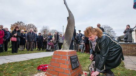 RAF Marham: official opening of a memorial wall at the aviation heritage centre. Picture: SAC Edward