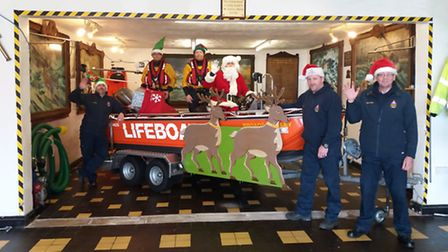 The crew of Hemsby lifeboat will take up their roles as Santa's helpers when he tours towns and vill