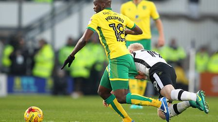 Youssouf Mulumbu added some ballast to Norwich City's midfield at Derby County. Picture: Paul Cheste