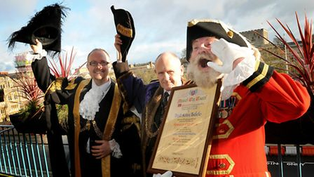 The Lord Mayor Tom Dylan and the Sheriff Derek James host a civic reception to celebrate David Bullo