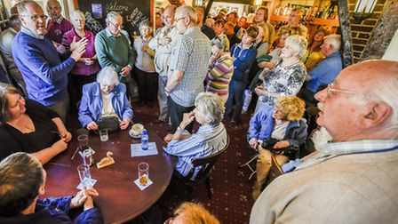 Gressenhall residents packed the Swan Inn to discuss the closure of the local post office with Georg